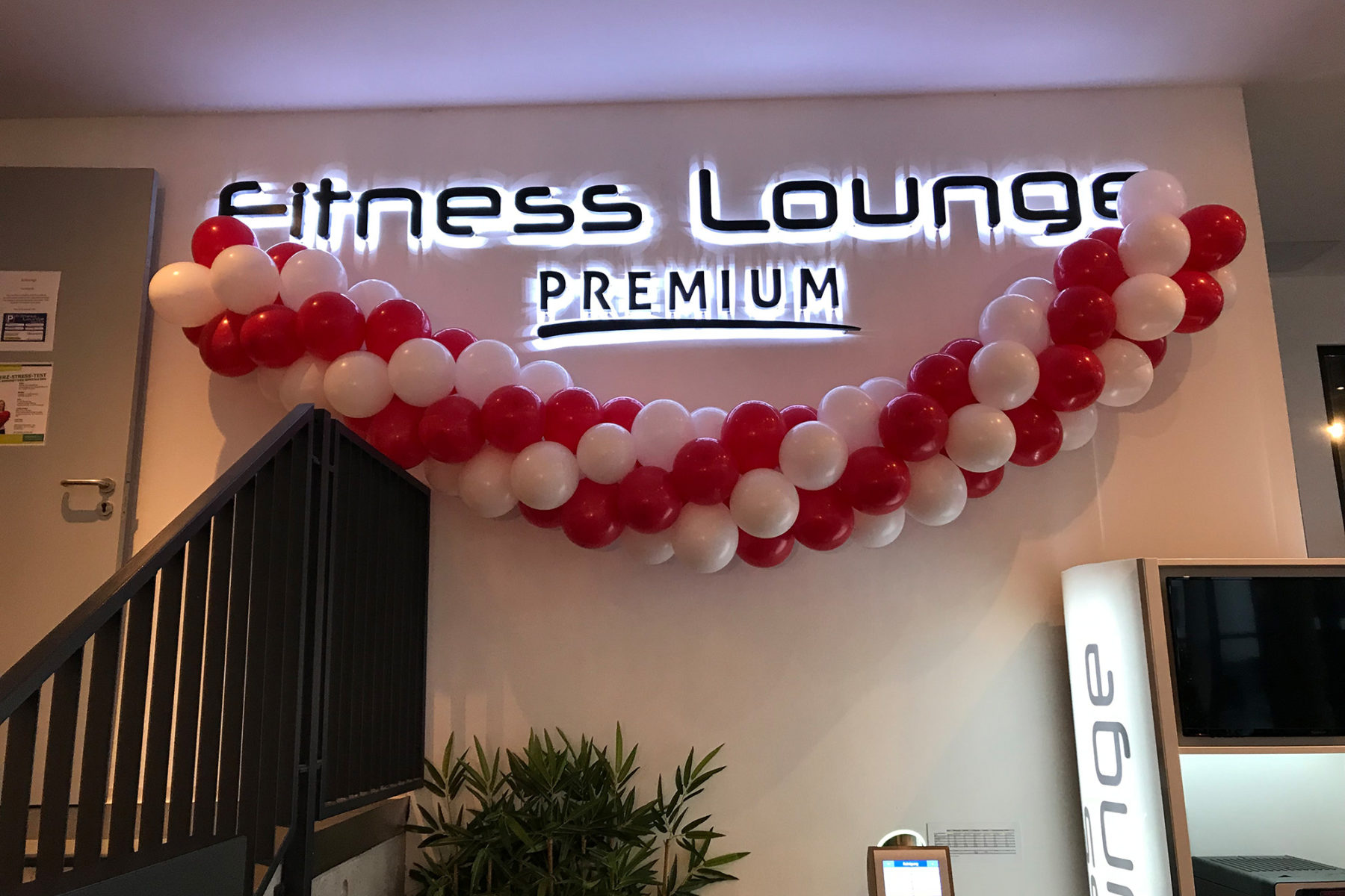 Event-Balloons Fitness Lounge Sport Fitness Training