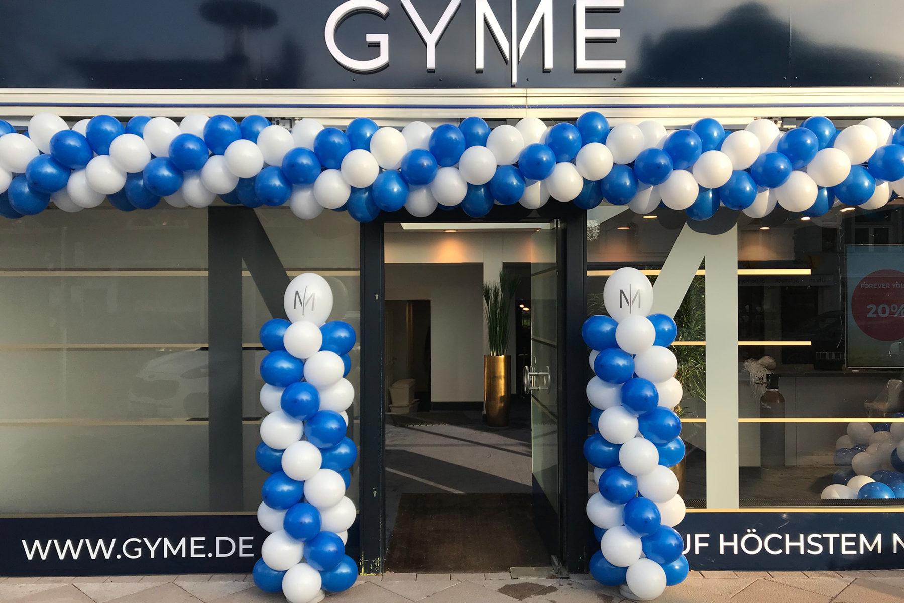 Event-Balloons GYME Hamburg EMS Training Kraftsport Muskelaufbau Ernaehrungsberatung