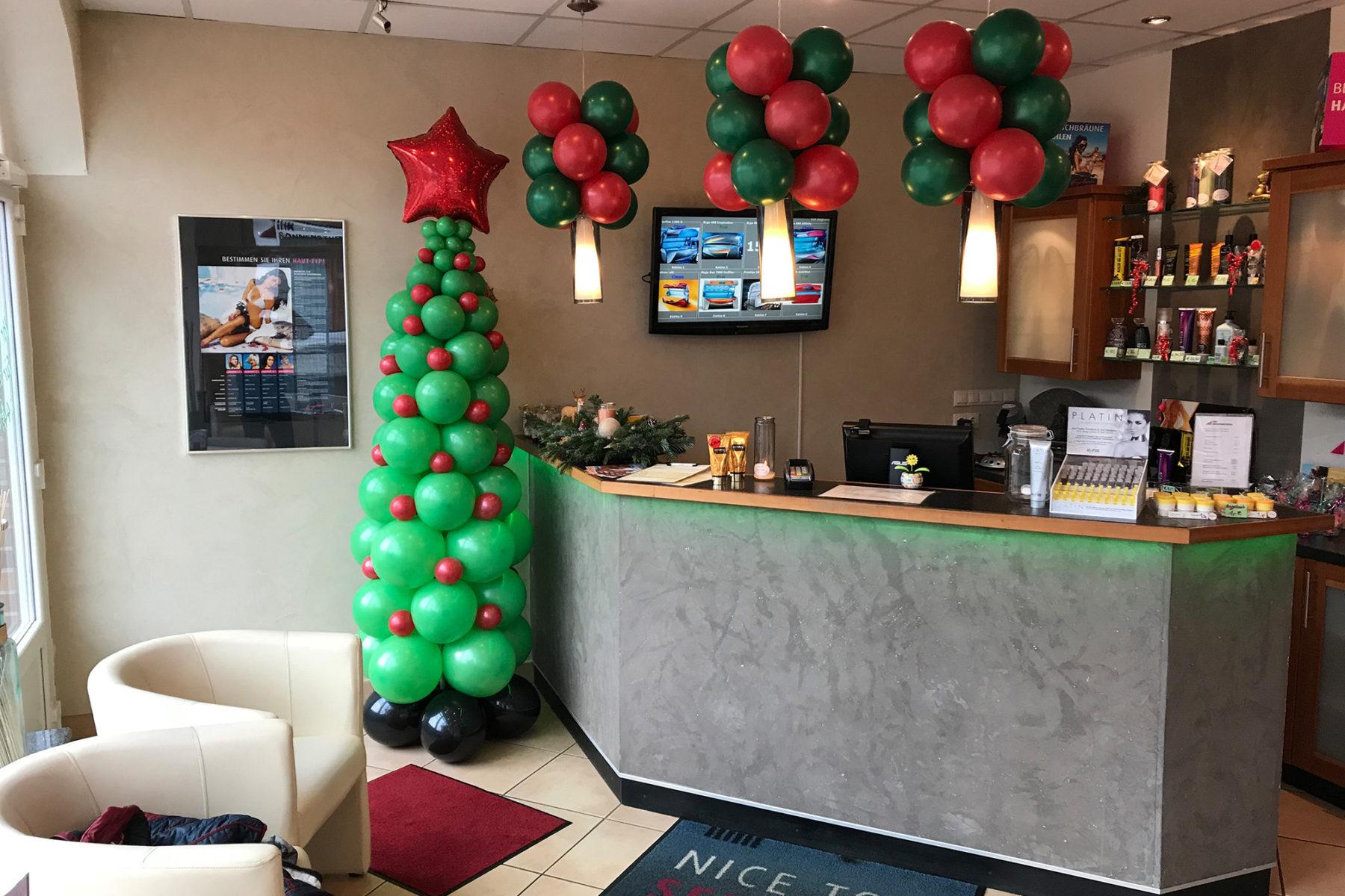 Event-Balloons Ihr Sonnenstudio Weihnachten Tannenbaum