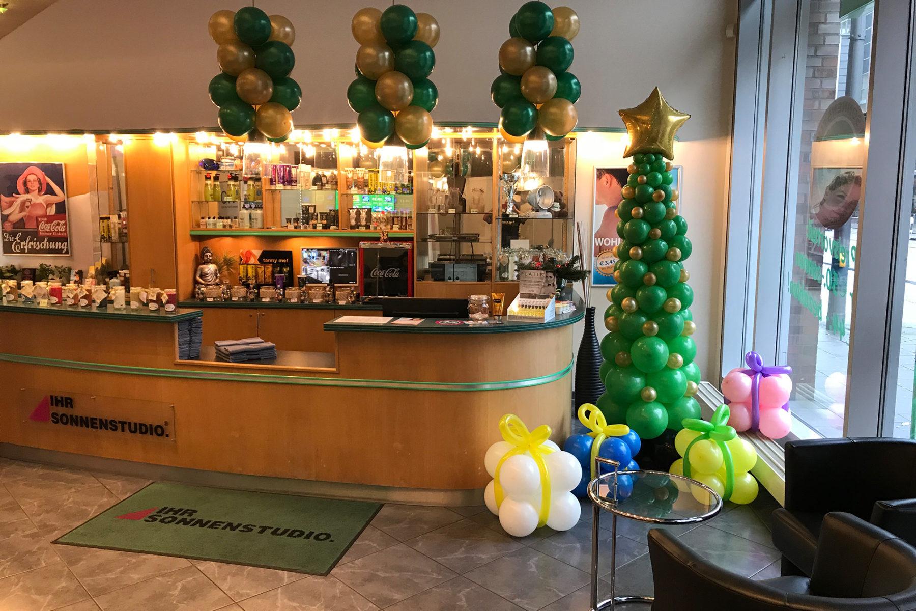 Event-Balloons Ihr Sonnenstudio Weihnachtsbaum Weihnachtsdeko