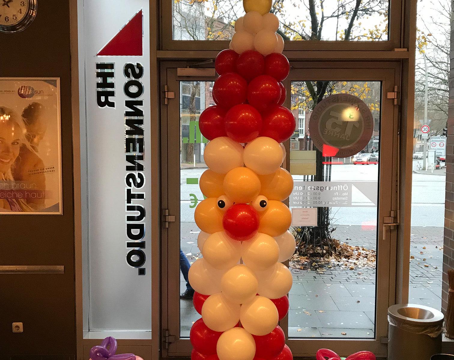 Event-Balloons Weihnachtsmann Ihr Sonnenstudio Nikolaus Geschenke