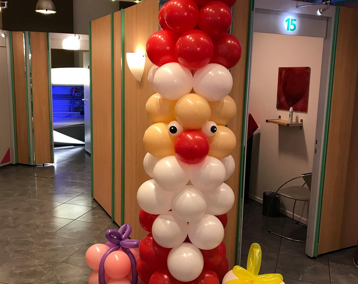 Event-Balloons Weihnachtsmann Nikolaus Ihr Sonnenstudio Geschenke Luftballons